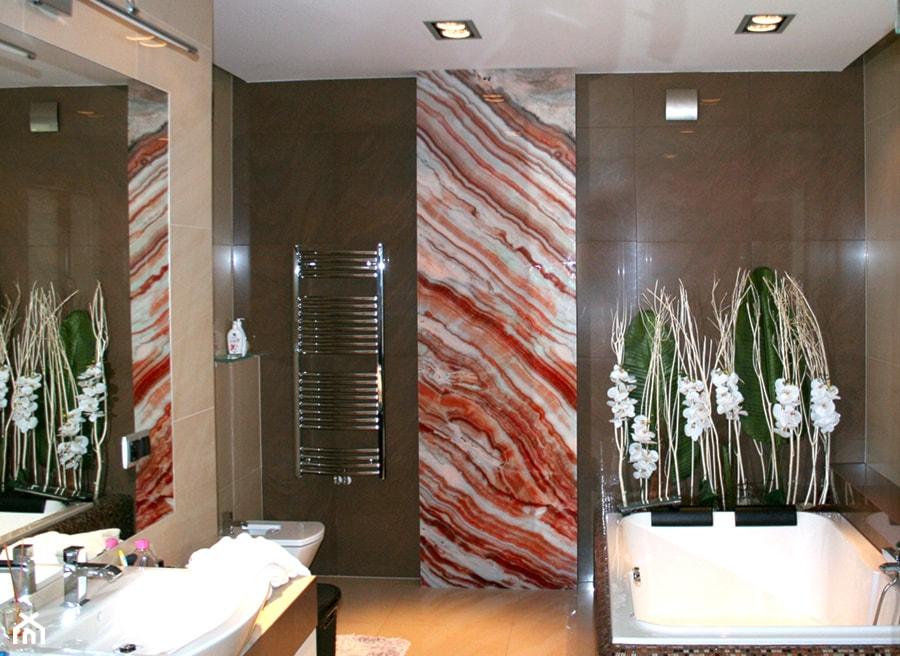 Panel Szklany łazienkowy Szkło Podświetlane Zdjęcie Od