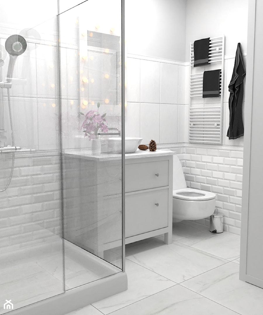 Sypialnia O Mała Biała łazienka Na Poddaszu W Bloku W Domu