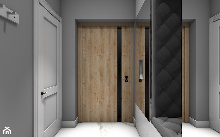 Dom jednorodzinny Gostyń - Średni szary hol / przedpokój, styl klasyczny - zdjęcie od JustDesign - Projekty wyjątkowych wnętrz