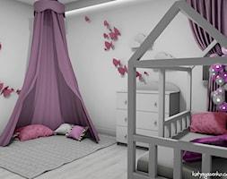 Dom jednorodzinny Gostyń - Średni szary pokój dziecka dla dziewczynki dla niemowlaka dla malucha, styl minimalistyczny - zdjęcie od JustDesign - Projekty wyjątkowych wnętrz