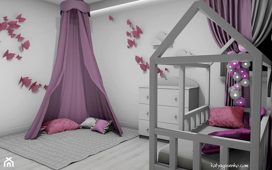 Aranżacje wnętrz - Pokój dziecka: Dom jednorodzinny Gostyń - Średni szary pokój dziecka dla dziewczynki dla niemowlaka dla malucha, styl minimalistyczny - JustDesign - Projekty wyjątkowych wnętrz. Przeglądaj, dodawaj i zapisuj najlepsze zdjęcia, pomysły i inspiracje designerskie. W bazie mamy już prawie milion fotografii!