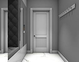 Dom jednorodzinny Gostyń - Mały szary hol / przedpokój, styl glamour - zdjęcie od JustDesign - Projekty wyjątkowych wnętrz