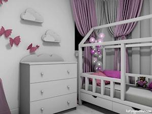 Dom jednorodzinny Gostyń - Mały szary pokój dziecka dla dziewczynki dla malucha dla nastolatka, styl prowansalski - zdjęcie od JustDesign - Projekty wyjątkowych wnętrz