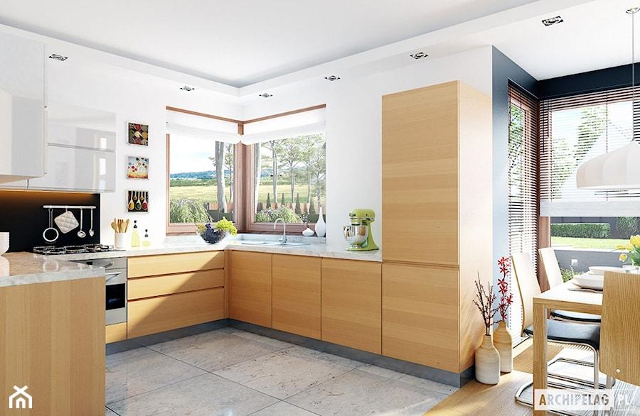 Projekt domu Mati G1 - wizualizacja kuchni - zdjęcie od ARCHIPELAG Pracownia Projektowa