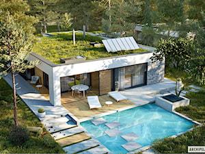Projekt EX 21 G2 soft - nowoczesny dom z zielonym dachem - zdjęcie od ARCHIPELAG Pracownia Projektowa