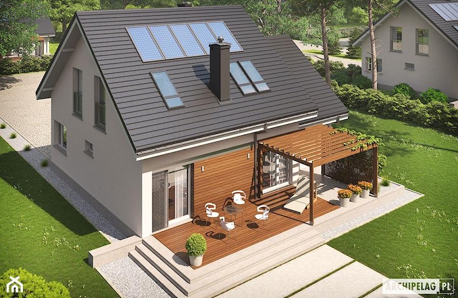 Projekt domu Leosia G1 ENERGO - widok z lotu ptaka - zdjęcie od ARCHIPELAG Pracownia Projektowa