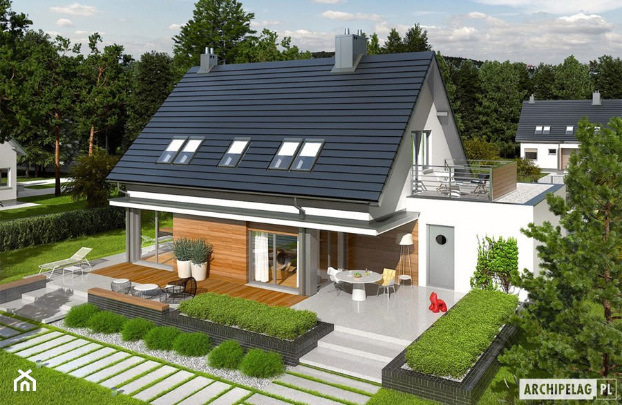Projekt domu Lars G1 (wersja A) - zdjęcie od ARCHIPELAG Pracownia Projektowa