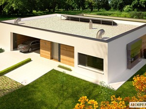Projekt domu EX 7 Z WIATĄ ENERGO PLUS