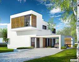 EX 10 (z wiatą) ENERGO PLUS - zdjęcie od ARCHIPELAG Pracownia Projektowa - Homebook