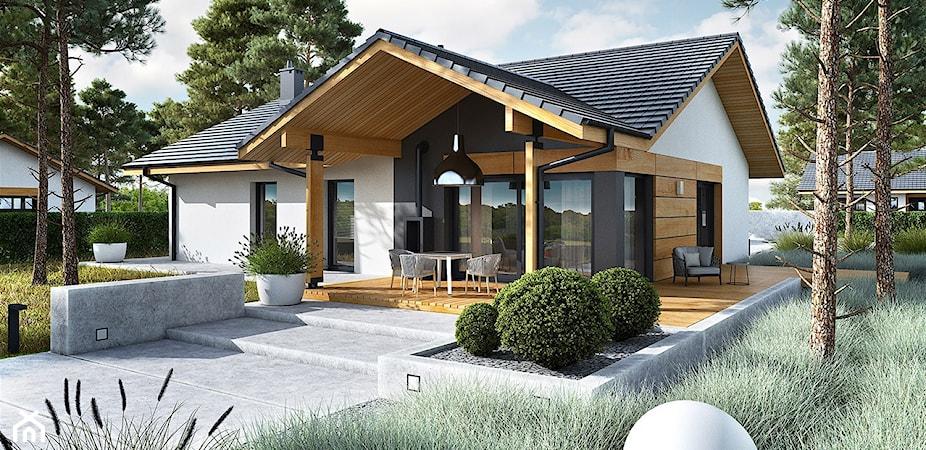 Nowoczesne domy parterowe – 6 projektów, które Was zachwycą