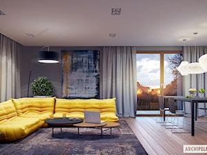 Projekt Marcel G2 - wizualizacja salonu - zdjęcie od ARCHIPELAG Pracownia Projektowa