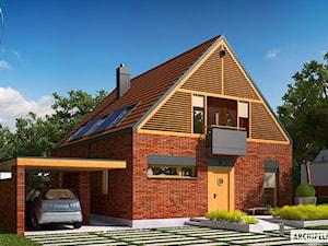 Projekt domu E9 z wiatą (wersja B) ENERGO PLUS