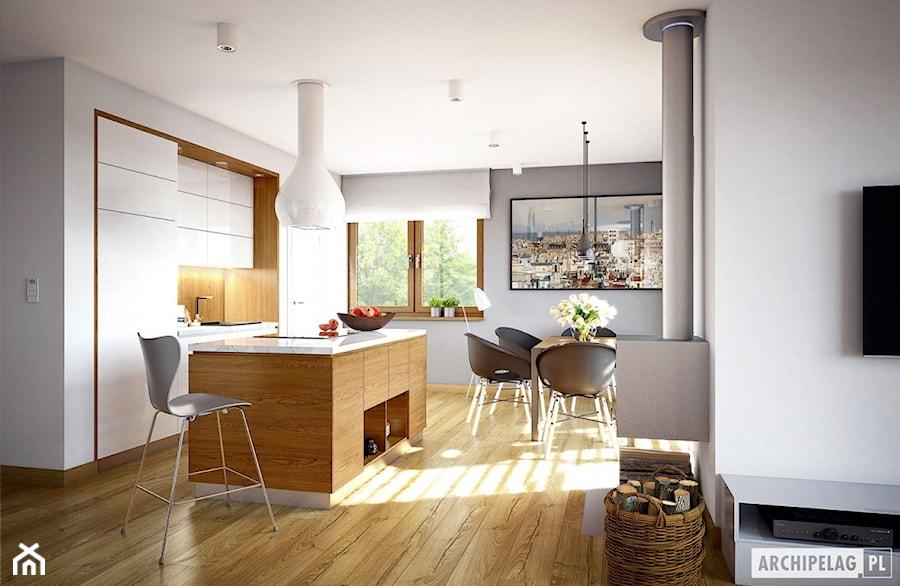 Projekt Domu Riko III G2 - Wizualizacja kuchni - zdjęcie od ARCHIPELAG Pracownia Projektowa