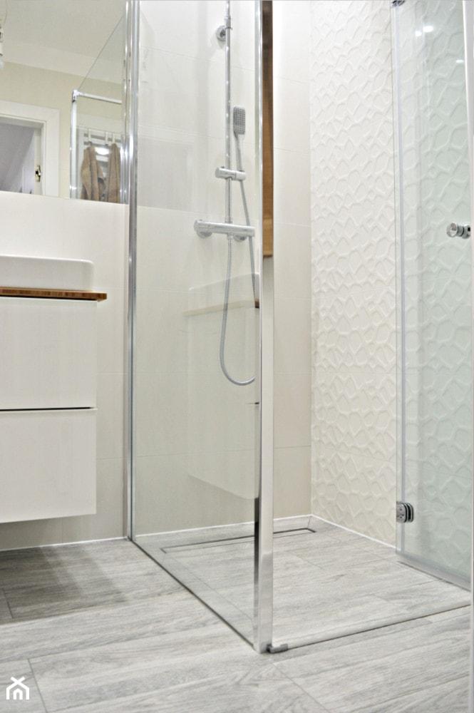 Mała łazienka W Bieli łazienka Styl Nowoczesny Zdjęcie