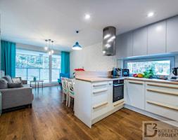 Salon z aneksem kuchennym - zdjęcie od Kolektyw D2