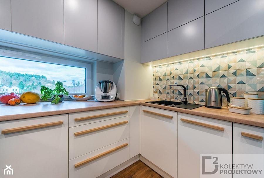 Nowoczesne Mieszkanie Niebieskie średnia Otwarta Biała