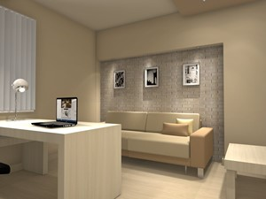 Gabinet w domu - zdjęcie od Kamila Ratajczyk. INterior Design. Aranżacja, Projektowanie wnętrz.