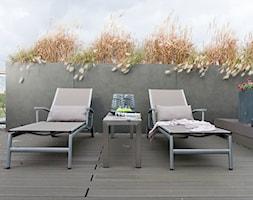 Penthouse Wilanów z tarasem - w duchu ponadczasowej elegancji - Średni taras na dachu, styl nowoczesny - zdjęcie od Chałupko Design