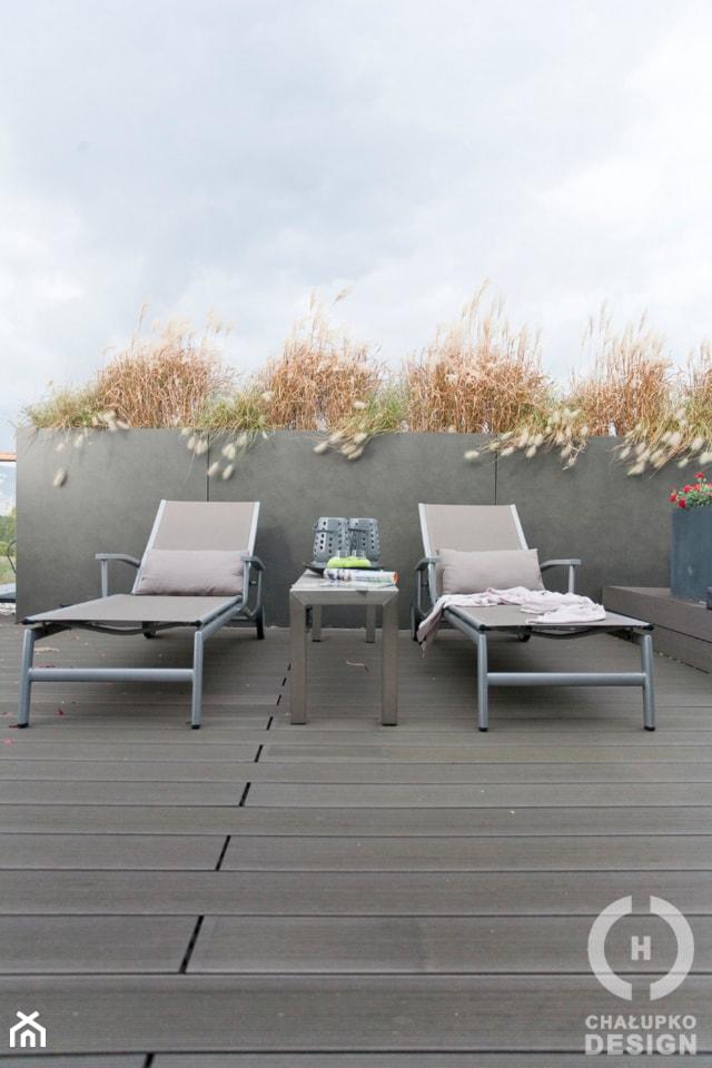 Penthouse Wilanów z tarasem - w duchu ponadczasowej elegancji - Średni taras na dachu, styl nowoczesny - zdjęcie od Chałupko Design - Homebook