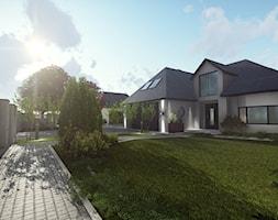 Projekt kostki przed domem, projekt elewacji. - zdjęcie od Aleksandra Wachowicz