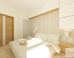 Projekt mieszkania 98 m2 w Wilanowie. - Sypialnia, styl nowoczesny - zdjęcie od 4ma projekt