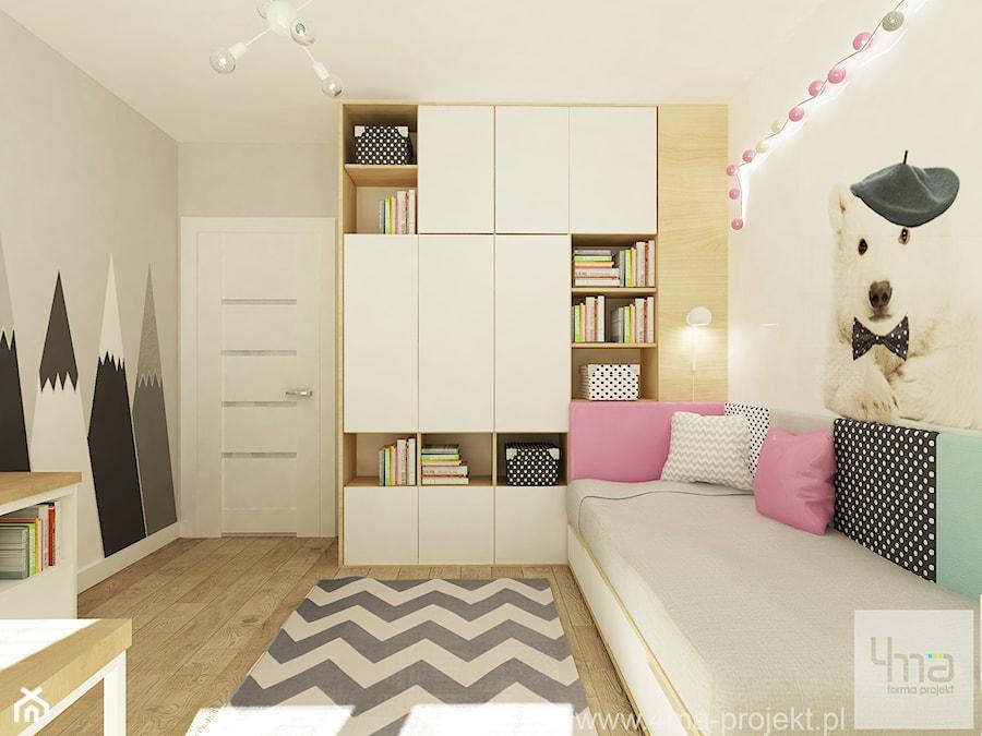 Projekt domu o pow. 125 m2 w Ożarowie Mazowieckim - Średni szary pokój dziecka dla dziewczynki dla nastolatka, styl nowoczesny - zdjęcie od 4ma projekt
