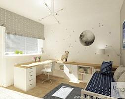 Projekt domu o pow. 125 m2 w Ożarowie Mazowieckim - Średni szary pokój dziecka dla chłopca dla dziewczynki dla ucznia dla nastolatka, styl nowoczesny - zdjęcie od 4ma projekt