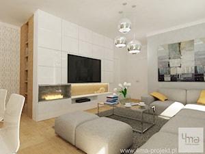 Projekt mieszkania 78 m2 na Woli.