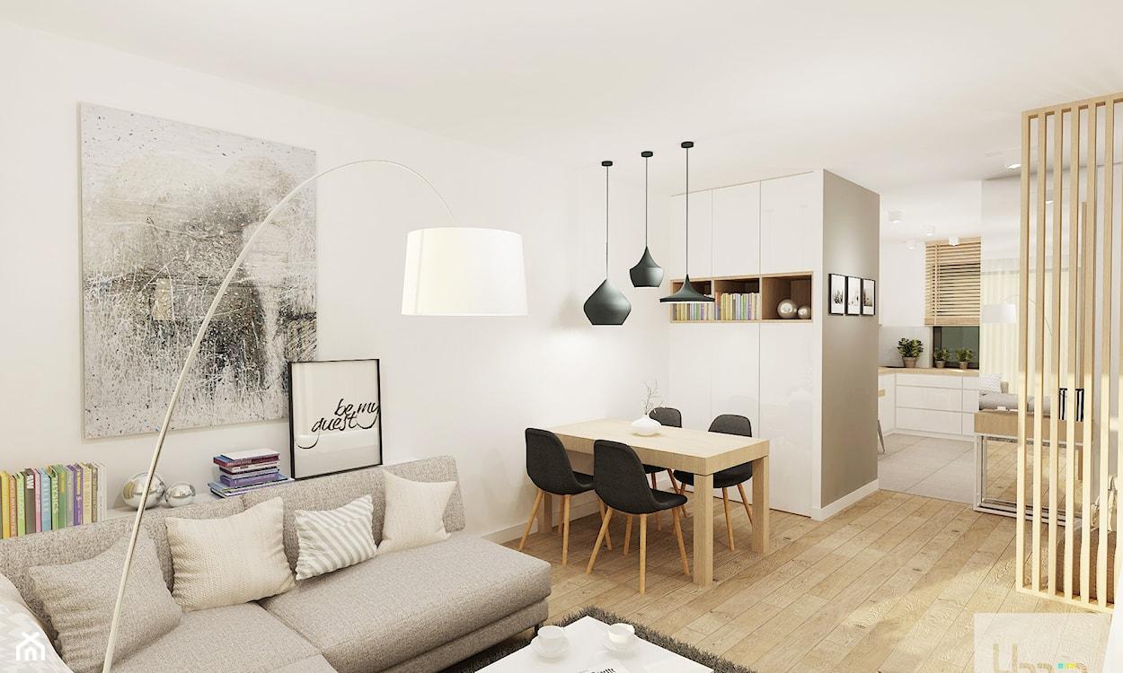 przytulny salon urządzony w stylu skandynawskim