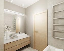 Projekt mieszkania 53 m2 na Żoliborzu - Łazienka, styl nowoczesny - zdjęcie od 4ma projekt