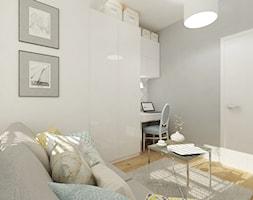 Projekt mieszkania 78 m2 na Woli. - Średnie szare biuro kącik do pracy w pokoju, styl eklektyczny - zdjęcie od 4ma projekt