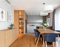 Mieszkanie o pow. 129 m2 - Mokotów - Jadalnia, styl nowoczesny - zdjęcie od 4ma projekt - Homebook
