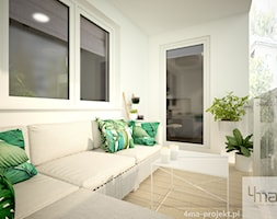 Mieszkanie 48,5 m2 - Średni taras z tyłu domu, styl nowoczesny - zdjęcie od 4ma projekt