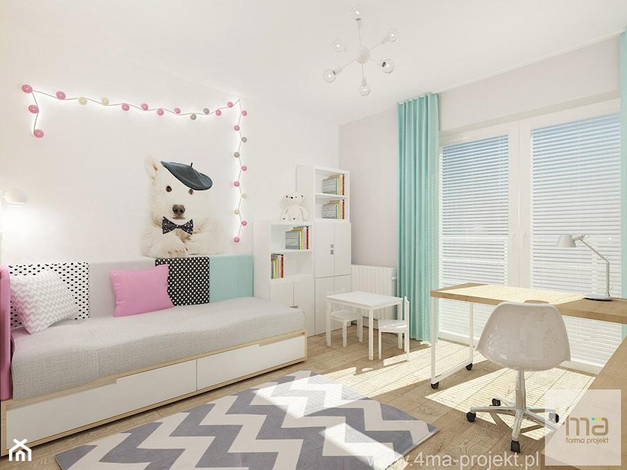 Projekt domu o pow. 125 m2 w Ożarowie Mazowieckim - Średni szary pokój dziecka dla chłopca dla dziewczynki dla ucznia dla malucha, styl nowoczesny - zdjęcie od 4ma projekt