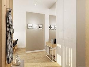 Projekt mieszkania 53 m2 na Żoliborzu - Średni szary hol / przedpokój, styl nowoczesny - zdjęcie od 4ma projekt