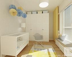 Projekt mieszkania 78 m2 na Woli. - Średni beżowy pokój dziecka dla chłopca dla dziewczynki dla niemowlaka, styl eklektyczny - zdjęcie od 4ma projekt