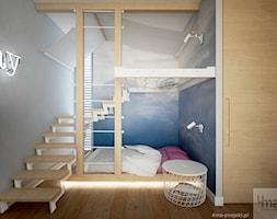 Dom 310 m2. - Mały szary pokój dziecka dla chłopca dla dziewczynki dla malucha, styl nowoczesny - zdjęcie od 4ma projekt