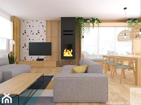 Aranżacje wnętrz - Salon: Dom w Hornówku 108m2 - Salon, styl nowoczesny - 4ma projekt. Przeglądaj, dodawaj i zapisuj najlepsze zdjęcia, pomysły i inspiracje designerskie. W bazie mamy już prawie milion fotografii!