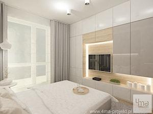 Projekt mieszkania w Pruszkowie - pow. 52,5 m2. - Średnia sypialnia małżeńska, styl nowoczesny - zdjęcie od 4ma projekt