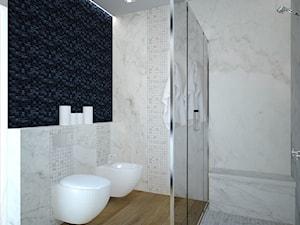 Czarno-biała łazienka.