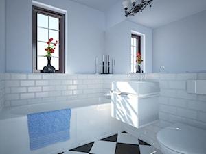 Niebiesko-biała łazienka