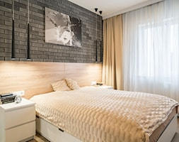 Kościańska sypialnia - Średnia sypialnia małżeńska, styl nowoczesny - zdjęcie od Carolineart - Homebook