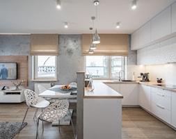 Kościańska salon z kuchnią - Kuchnia, styl nowoczesny - zdjęcie od Carolineart - Homebook