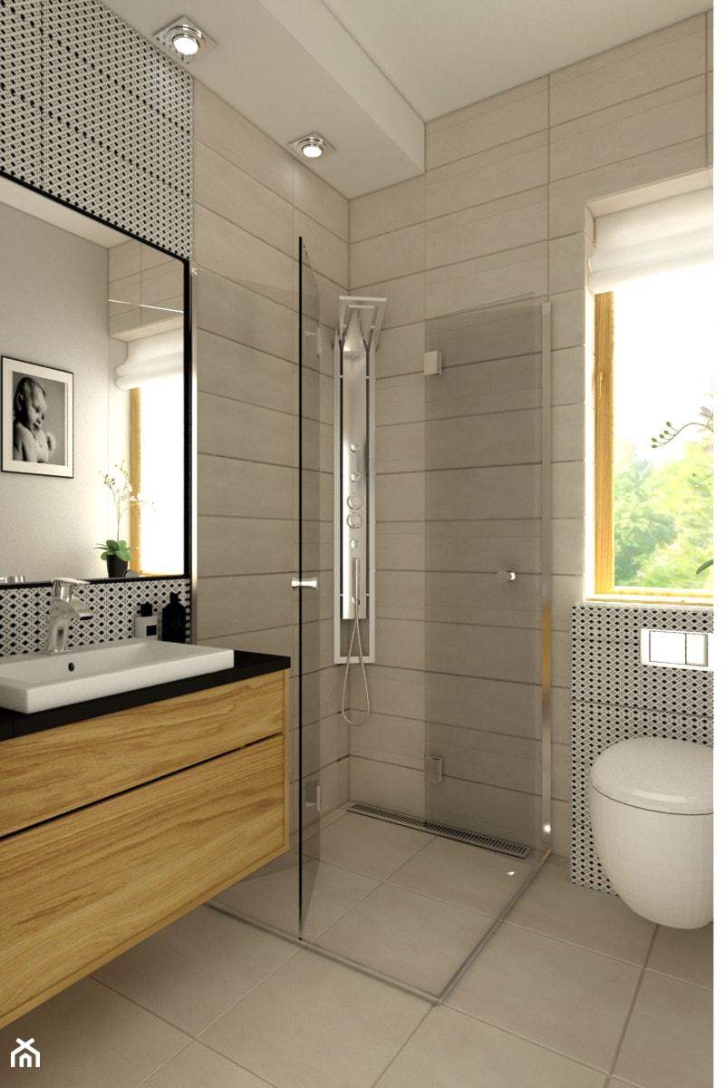 Azienka styl skandynawski ma a azienka w domu for 5m2 bathroom design