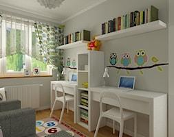 Pokój chłopca i dziewczynki - Średni szary pokój dziecka dla dziewczynki dla rodzeństwa dla malucha, styl nowoczesny - zdjęcie od Carolineart