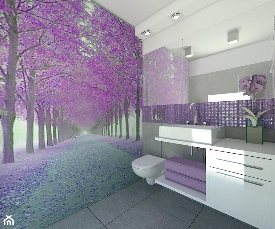 Fioletowa łazienka - zdjęcie od Carolineart