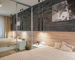 Kościańska sypialnia - Mała sypialnia małżeńska, styl nowoczesny - zdjęcie od Carolineart - Homebook
