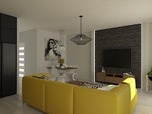 Salon żółta kanapa