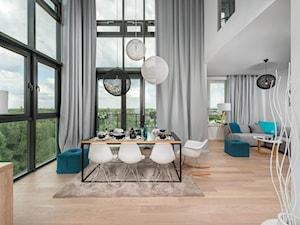 Dwupoziomowe mieszkanie w stylu nowoczesnym