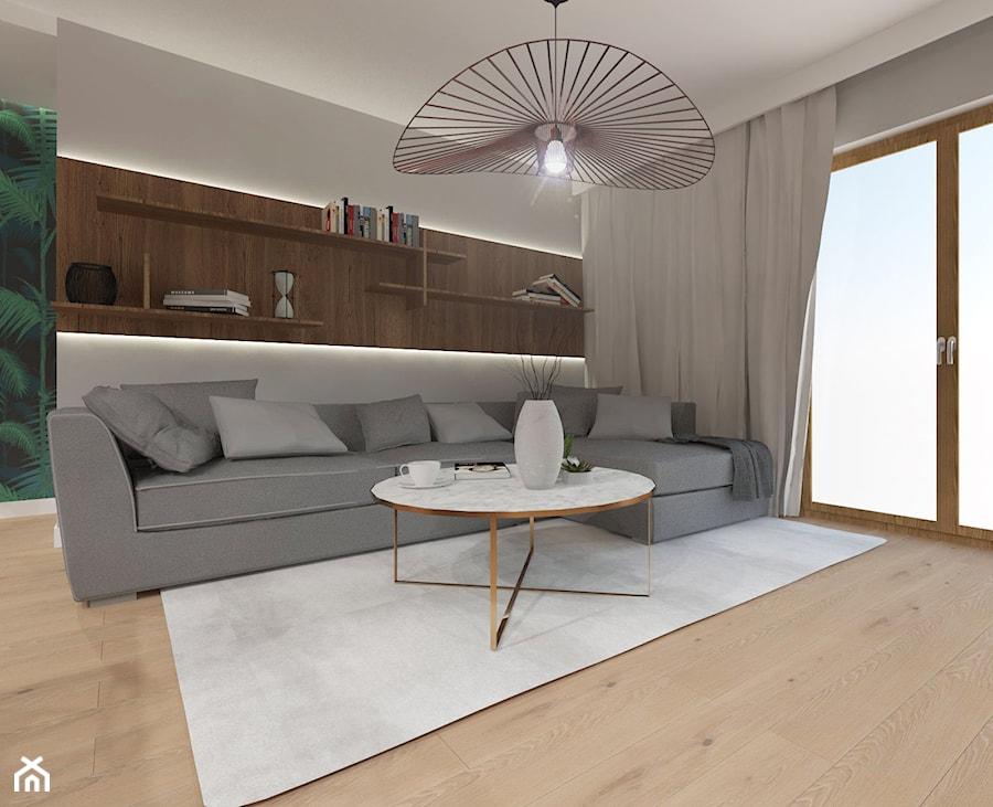 NOWOCZESNE MIESZKANIE - projekt - Mały szary salon, styl nowoczesny - zdjęcie od GALERIE VENIS DESIGN STUDIO